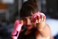 woman boxing to create best life